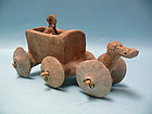 Syro Hittite Terracotta Chariot and Charioteer