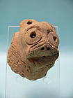 Canaanite Terracotta Protome / Attachment Sacred Bull Head