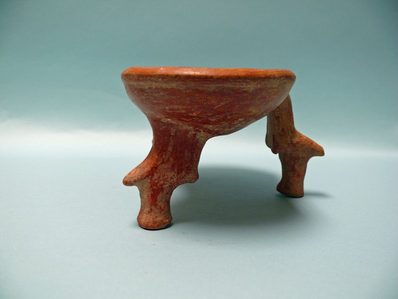 Iron Age III, Teppe Hasanlu, Terracotta Double Bowl with Tripod Feet