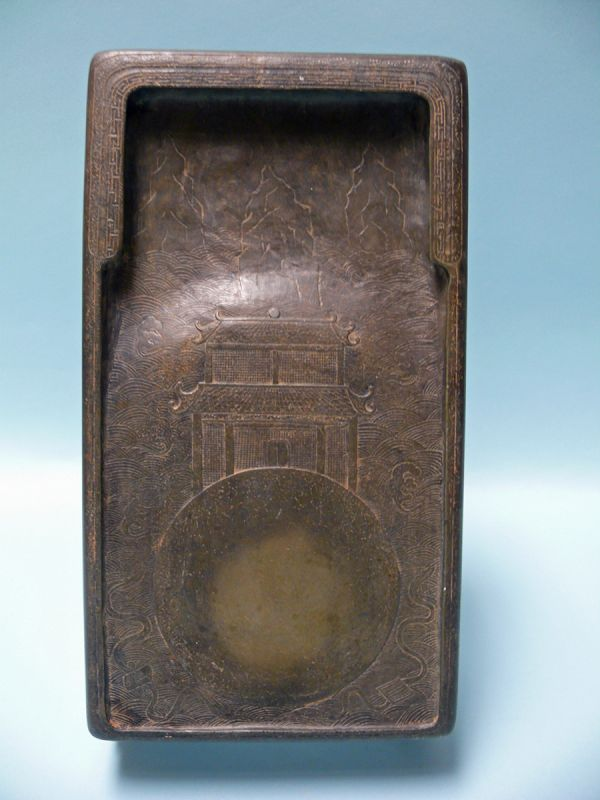 Qing Dynasty Scholar's Inkstone, Signed and Dated