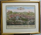 Antique Map of Jerusalem, Teddy Kollek collection
