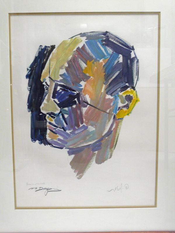 Pinchas Litvinovsky Lithograph Portrait Moshe Dayan A/P