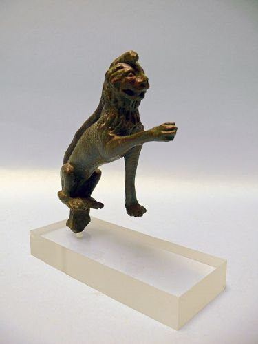 Roman Bronze of Lion and Serpent