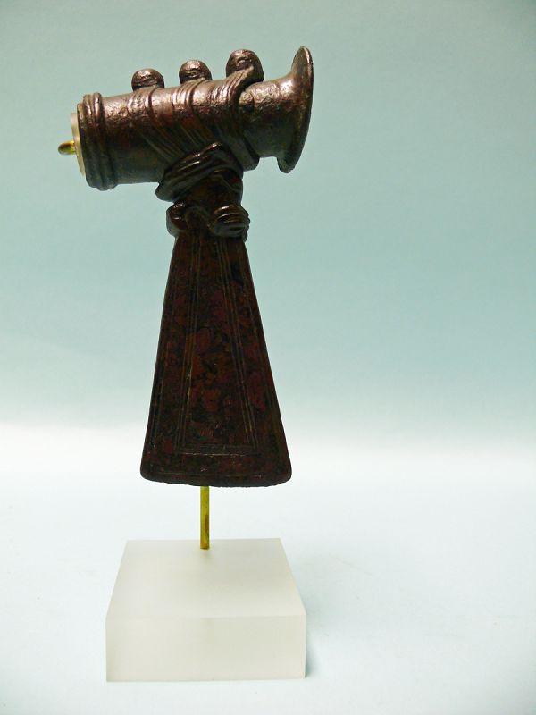 Elamite Bronze Ax Head with Head of Lion