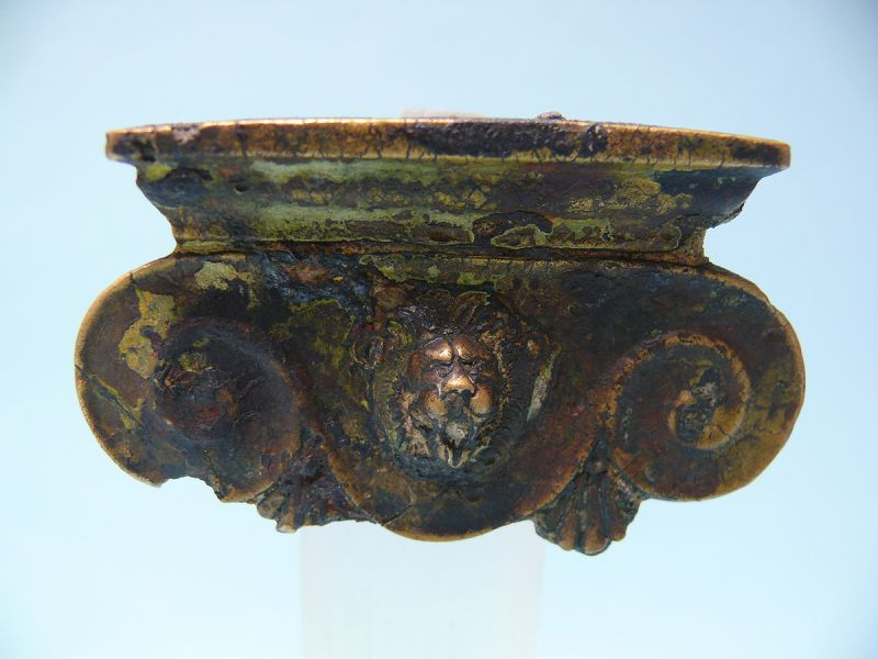 Roman Bronze Iconic Style Capital with Lion Head