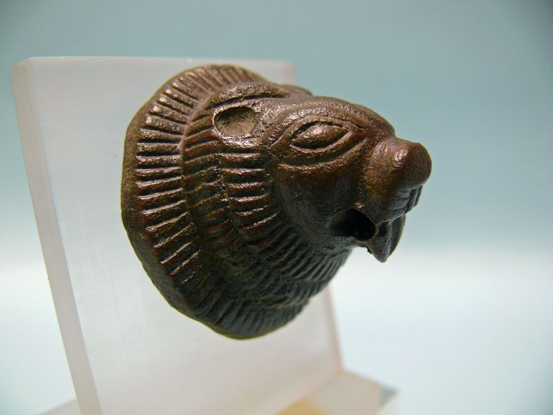 Etruscan Bronze Lion Head Protome