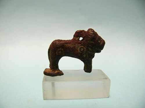 Luristan Bronze Finial of a Lion