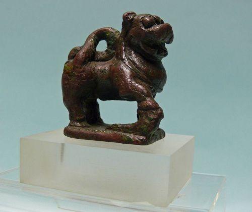 Sasanian Bronze Prancing Lion