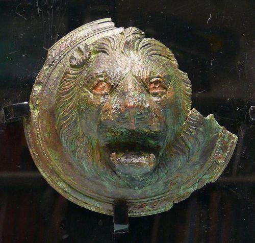 Roman Bronze Mask, Head of a Lion