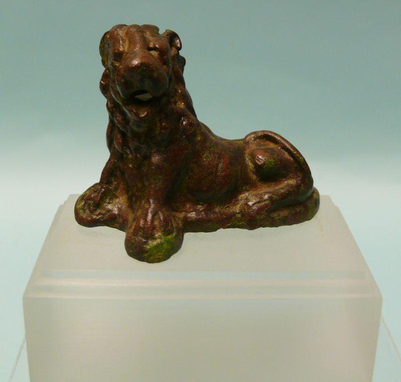 Roman Bronze Reclining Lion
