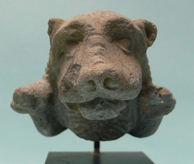 Near East, Islamic,  Stone Foreparts of a Leaping Lion