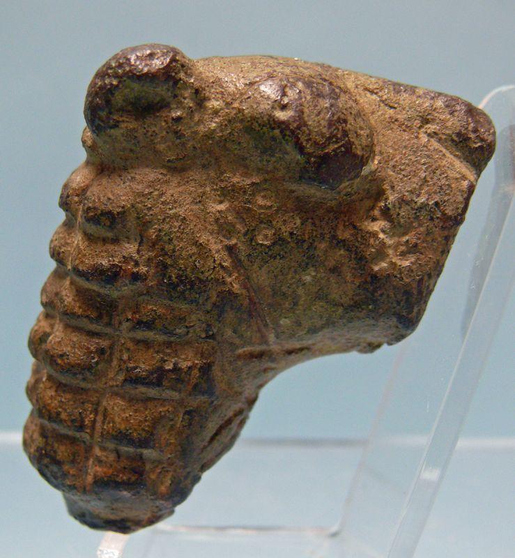 Islamic Bronze Head of a Lion