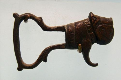 Near Eastern Islamic Seljuk Bronze Buckle, Body of a Lion,