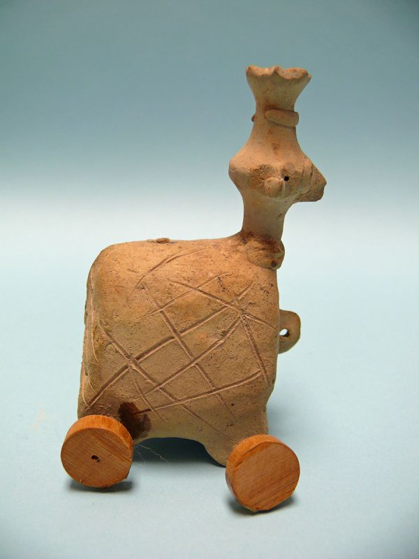 Syro Hittite Terracotta Zoomorphic Figure on Wheels