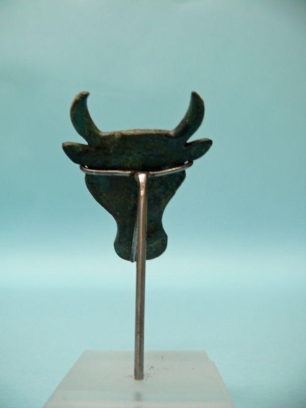 Roman Bronze Bull Head, flat applique