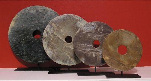 Four Neolithic Jade Bi Disc