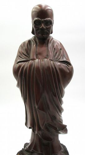 Hardwood Statue of the Lohan Damo