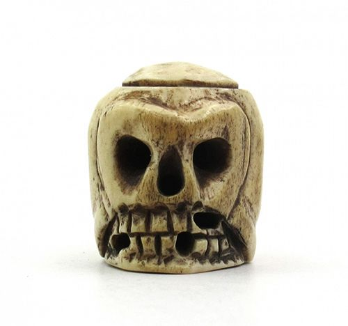 Large Skull Bead from Mala (Animal Bone)