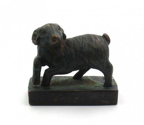 Seal with a Sheep/Ram Knob; Yuan dynasty