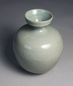 A Very Fine Koryo Sea-Green Celadon Glaze Bottle
