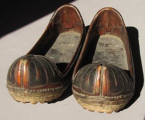 A Pair of Very Fine Korean Antique Leather Shoes