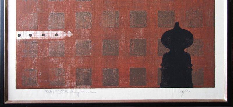 Rare/Fine Japanese Woodblock Print/Tadashi Nakayama