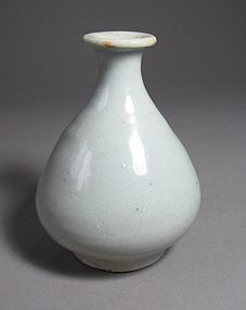 Rare and Fine Early White Porcelain Wine Bottle