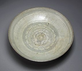 Fine Inlaid White Slip Punchong Shallow Bowl