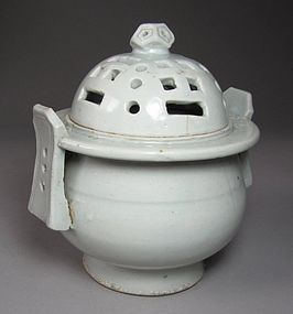 A Fine White Porcelain Incense Burner