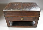 A Paulonia Wood Scholar�s Ink-Stone Box (Yon-Sang)
