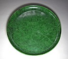 Large and Maginificent Spinach Green Solid Jade Tray