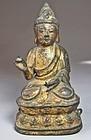 Fine/Rare Gilt Bronze Seated  Buddha Figure of Amitabha