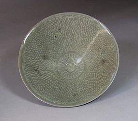 Extremely Rare/Fine Korean Celadon Inlaid Bowl-12th C.