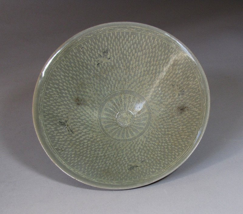Extremely Rare/Fine Korean Celadon Inlaid Bowl-12th C.