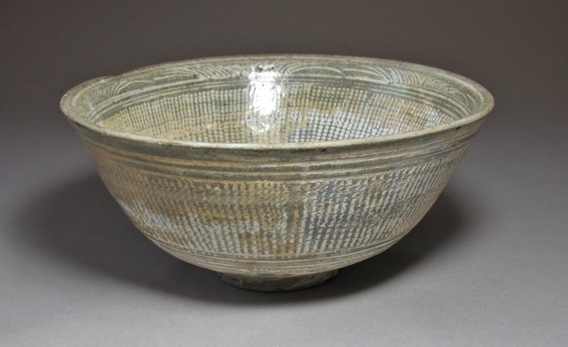 Fine and Rare White Slip Inlaid Punchong Bowl-16th C.