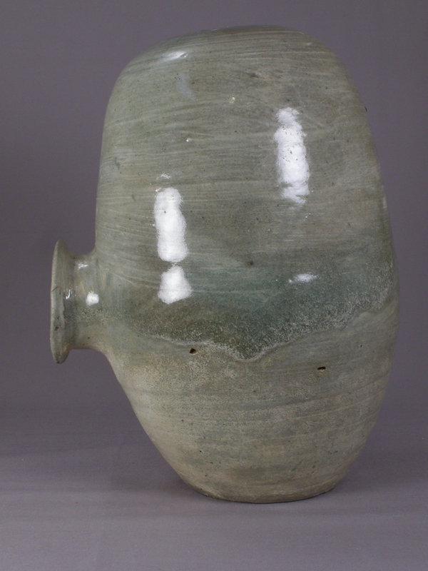Rare Early Punchon Stoneware Rice-Bail Shape Jar