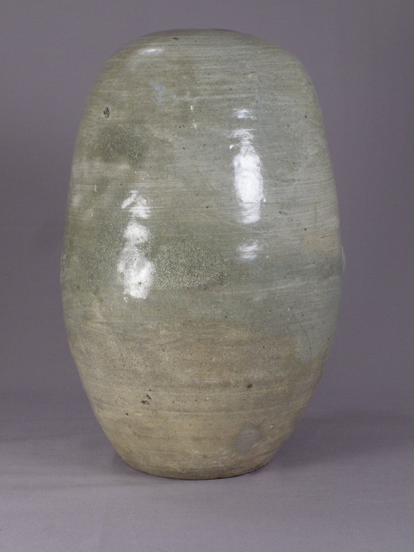Rare Early Punchon Stoneware Rice-Bail Shape Jar