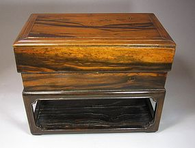 A Beautiful Scholar�s Persimmon Wood Ink-Stone Box