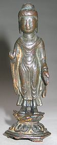 A Very Rare and Fine Gilt Bronze Figure of Buddha