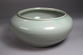 Very Fine Sea Green Glazed Celadon Large Bowl-12th C.