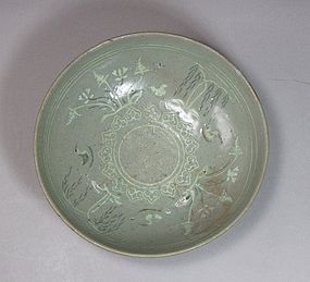 Fine/Rare Korean Black/White Slip Inlaid Celadon Bowl