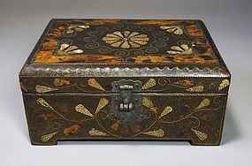 Very Rare Jewelry Box/Mother of Pearl,Tortoise,Shagreen