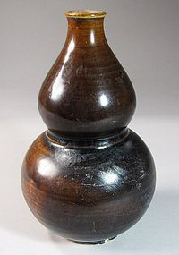 Very Fine/Rare Iron Glazed Double Gourd Shape Bottle