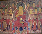 A Very Fine, Rare, Large Seven Star Buddhist Painting