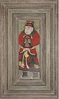 A Very Rare/Fine  Buddhist Guardian Warrior Painting-19th C.