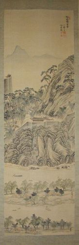 A Very Fine/Rare (浮碧�) by (��, ���-1865-1938) Scroll Painting