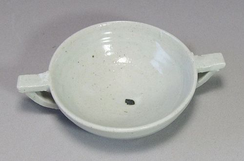 Extr. Rare/Fine White Glaze Two Ear (Loop) (兩��) Cup-16th C.: