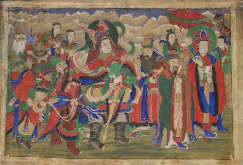 A Large Korean ��� (���) (Host of Spirits)� Buddhist Painting