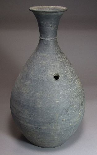 A Very Rare, Large, Fine  Pottery Bottle/Characters (�문�)-11th C.