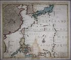 A Very Rare (�� ��) Map of Korea with �Sea of Coree�-18th C.